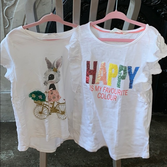 H&M Other - 2 H&M adorable t-shirts.   Size 6. Great for bts